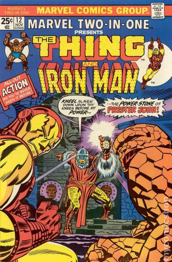 Marvel Two-In-One #12, portada de Jack Kirby, Frank Giacoia y John Costanza