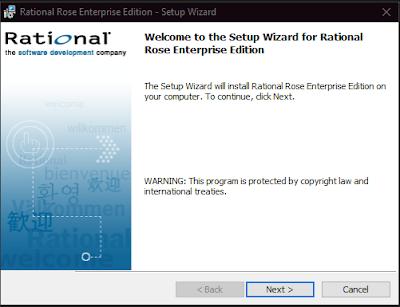 Instalasi Rational Rose Enterprise Edition