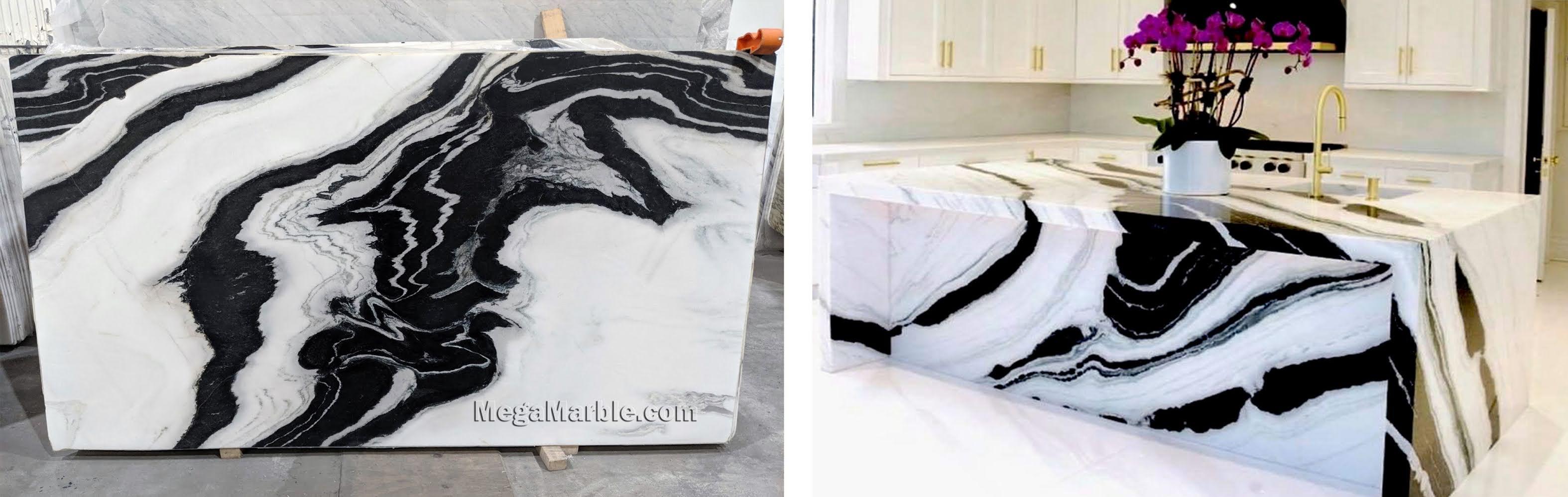 Panda White Marble Slabs