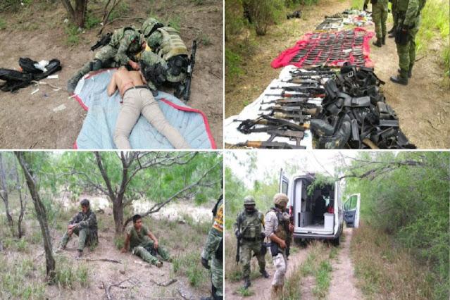 Duro golpe a El Mencho y su CJNG en su tierra, Militares rescatan a 18 personas que habían reclutado a la fuerza y les tumban arsenal
