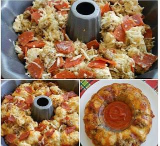 Pepperoni and Mozzarella Pull Apart Bread