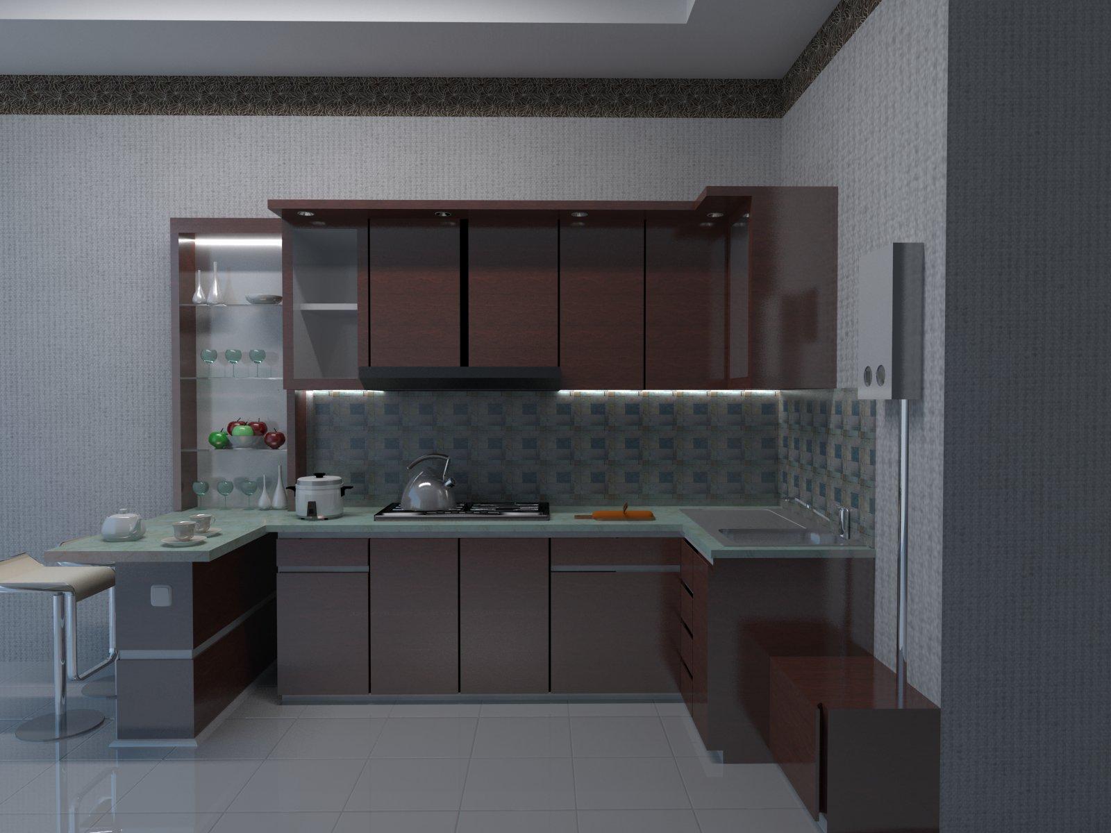 desain kitchen set ibu iqoh, jl.ahmad yani bogor jawa barat ~ jasa