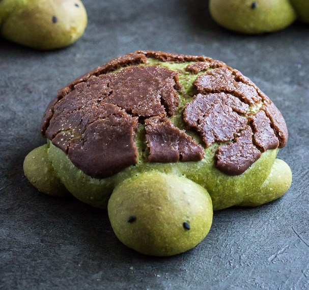 MATCHA MILK BREAD TURTLES #dessert #cookies