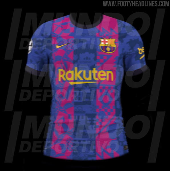 FC Barcelona 21-22 Champions League Home Kit Leaked - Footy Headlines