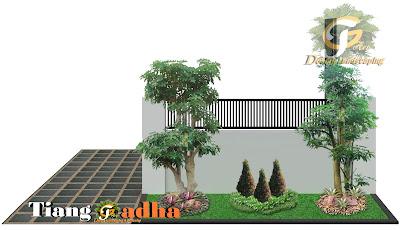contoh Desain Taman Samping rumah
