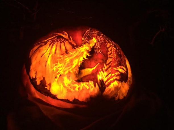 Night of 1,000 Jack o' Lanterns Dragon Pumpkin