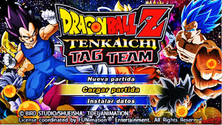 Saiuu!! New ISO (MOD) Dragon Ball Tenkaichi Tag Team + Menu Editado Para Android (PPSSPP)