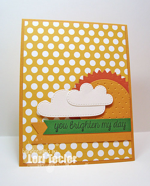 You Brighten My Day card-designed by Lori Tecler/Inking Aloud-stamps from Lawn Fawn