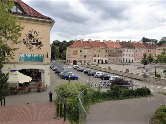 scorcio del quartiere Mariensztat a Varsavia