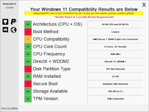 Esta ferramenta diz exatamente o porquê do teu PC não pode executar o Windows 11