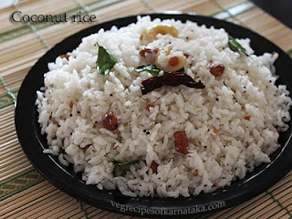 Coconut rice recipe in Kannada