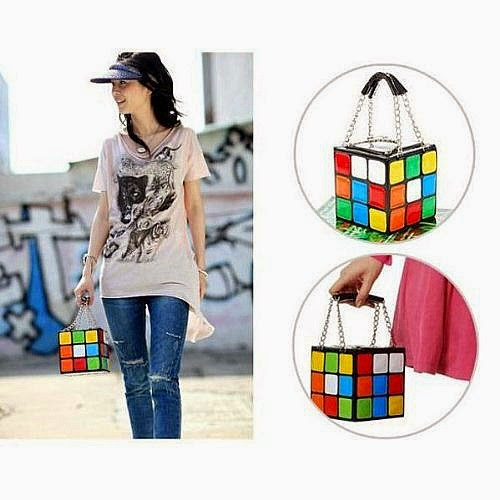 Rubik's Cube Clutch Handbag