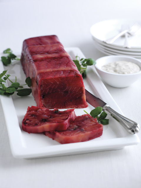 Beetroot Cured Salmon Terrine