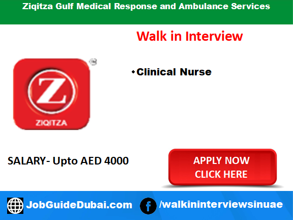 Ziqitza Gulf Medical Response and Ambulance Services career for Nurse job in Dubai