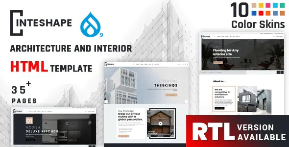 Best Architecture and Interior Drupal Theme