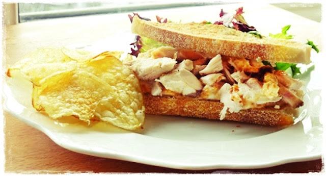 chicken and roasted butternut squash sandwich