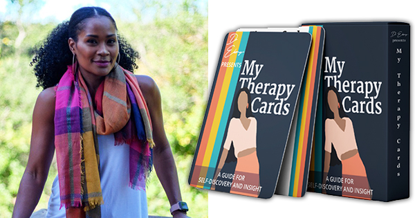 Ebony Butler, Ph.D., creator of My Therapy Cards
