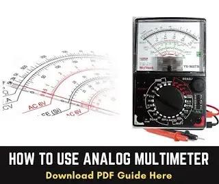 how to use analog multimeter pdf