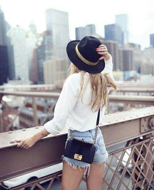 inspiracje, spodenki, lato, torebka, kapelusz, wiosna, blog, stylizacja