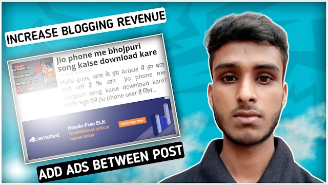 How to add ads between posts in blogger