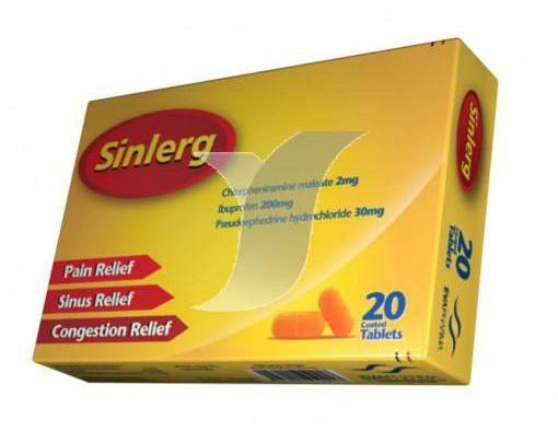 سعر أقراص سينلرج Sinlerg لعلاج ارتفاع الحرارة