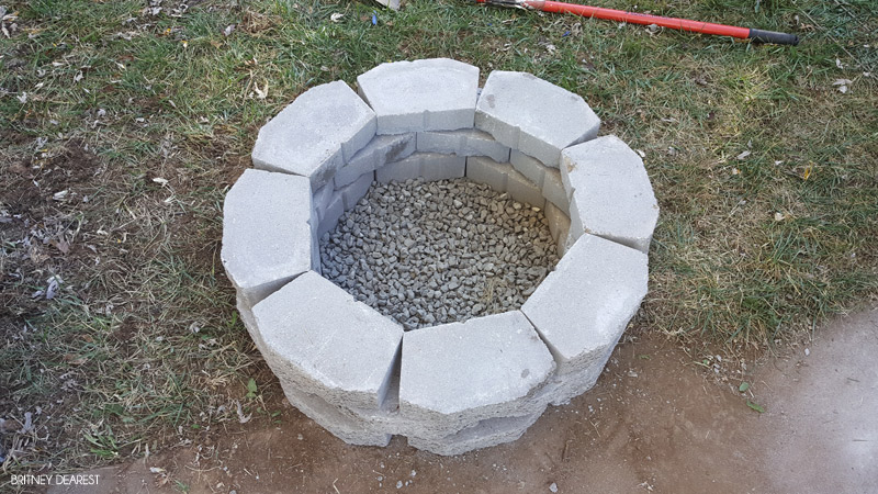 fire pit, how to, build, DIY, do it yourself, fire place, simple, easy, quick, cheap