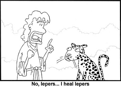 Funny Jesus Heals Lepers Religious Bible Cartoon Picture