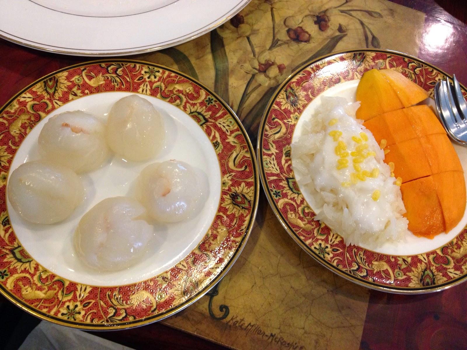 Bangkok - Lychee and mango and sticky rice
