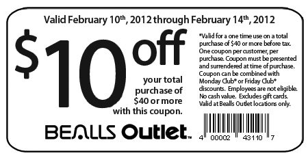 image relating to Bealls Printable Coupons known as Bealls florida printable coupon december / Scottrade promotions