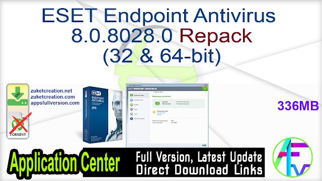 ESET Endpoint Antivirus 8.0.8028.0 Repack (32 & 64-bit)