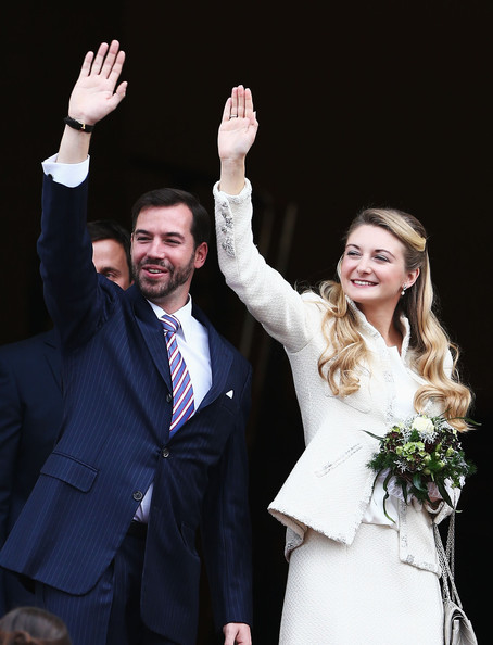 Civil Wedding Ceremony of Prince Guillaume and Countess Stephanie at the Luxembourg City Town Hall in Luxembourg. wedding of Prince Guillaume Of Luxembourg and Stephanie de Lannoy
