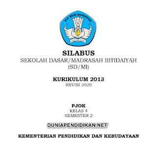 Silabus PJOK Kelas 4 SD/MI Semester 2 K13 Revisi 2021