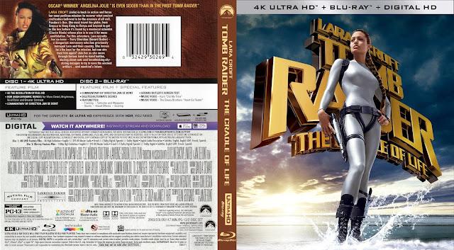 Lara Croft Tomb Raider: Cradle of Life 4k Bluray Cover