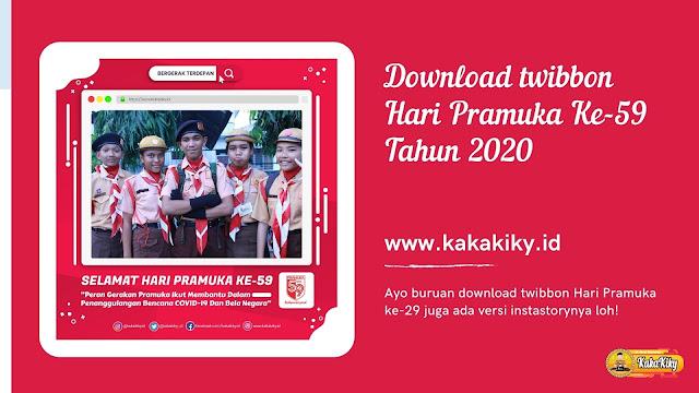 Download twibbon hari pramuka