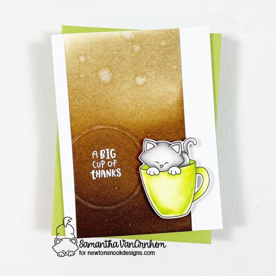 2021 National Coffee Day Hop | Coffee Card by Samantha VanArnhem | Newton's Mug Stamp Set by Newton's Nook Designs #newtonsnook