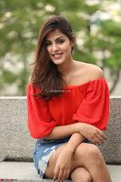 Rhea Chakraborty in Red Crop Top and Denim Shorts Spicy Pics ~  Exclusive 022.JPG