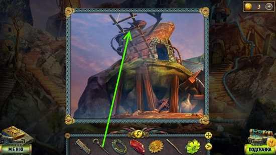 при помощи крюка опускаем лестницу в игре наследие 2 пленник