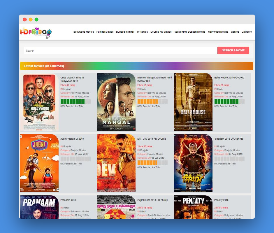 Hdfriday 2019-Download Bollywood, Punjabi, Hollywood Movies