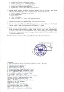 Surat Edaran Wali Kota Tarakan tentang Screening Kesehatan dan Karantina Kesehatan - Tarakan Info