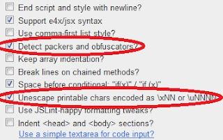 opciones para desofuscar javascript