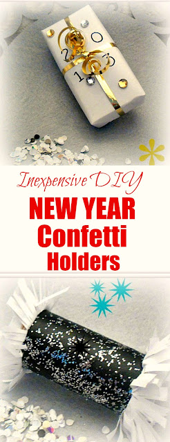Easyand inexpensive  DIY New Year Confetti Holders