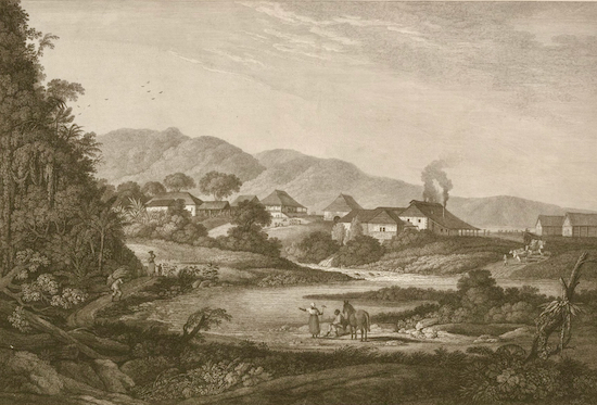 Roaring River Estate Jamaica Thomas Vivarès, George Robertson 25 March 1778 Image held by the British Library and released via Creative Commons 1.0