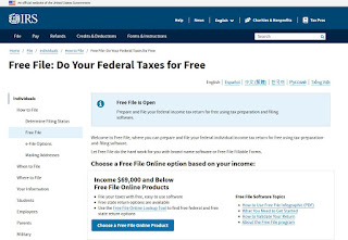 To make sure you are using the IRS Free File system, go to IRS.gov/freefile to review your choices