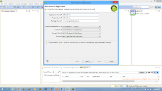 Create New Project Application eclipse