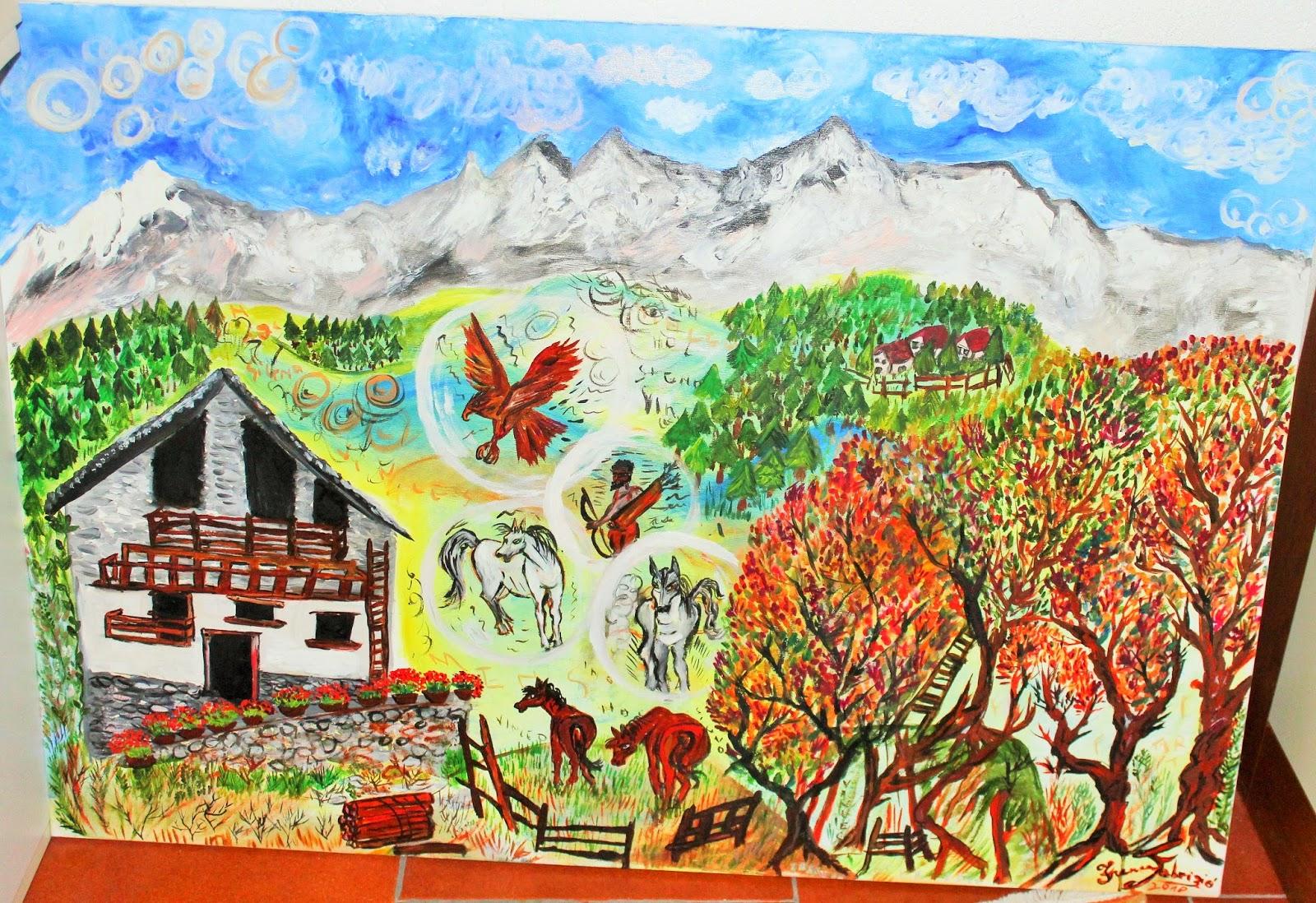 La montagna innamorata Pittura