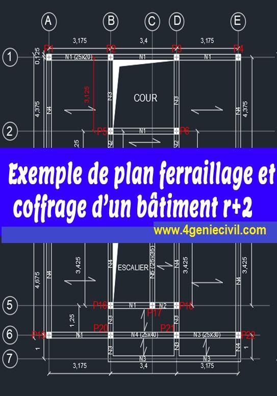 Telecharger Plan De Coffrage Et Ferraillage Dwg