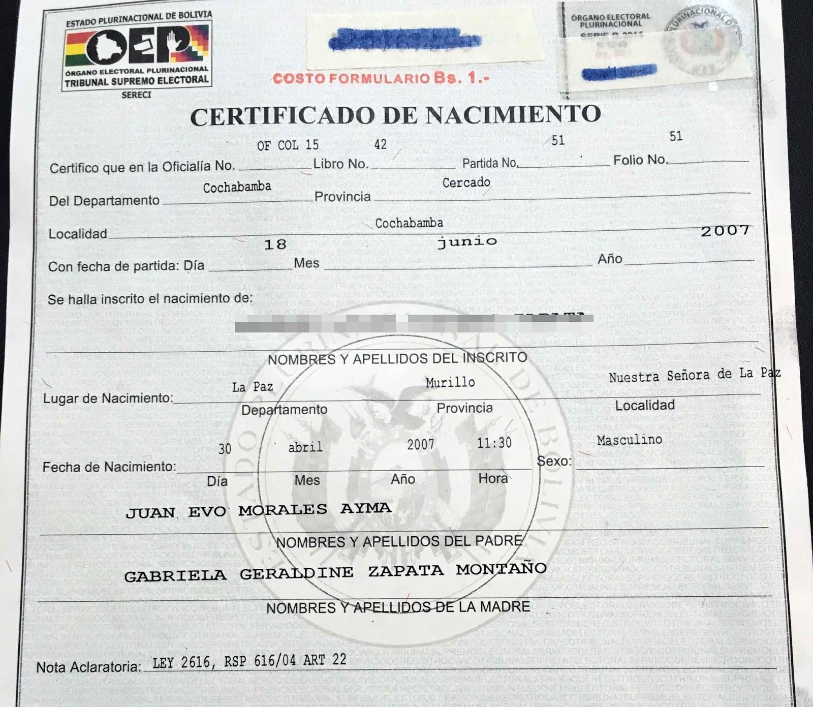 Único Certificado De Nacimiento Del Palacio De Justicia Del Condado ...
