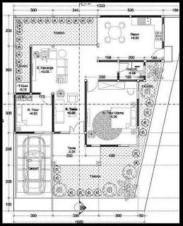 Gambar rumah hook 1 lantai