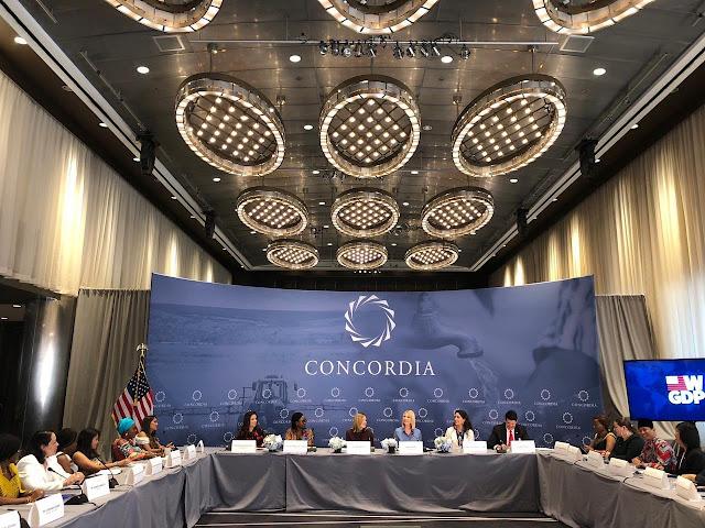 Berkesempatan Berbicara dalam Sesi Roundtables, Bupati Trenggalek Suarakan Persamaan Gender di Concordia Annual Summit 2019