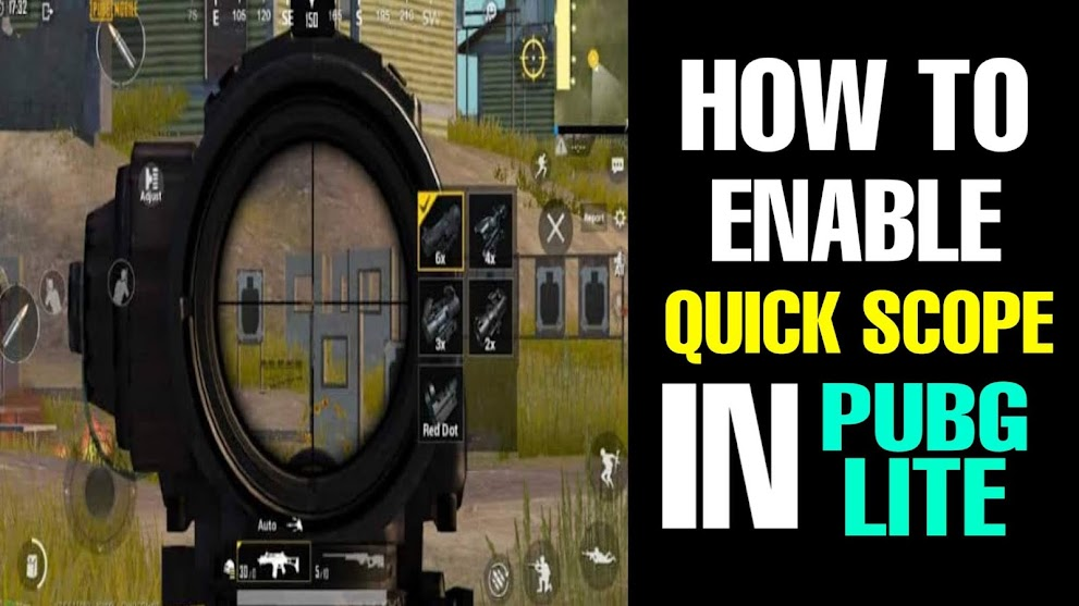 How To Enable Quick Scope In Pubg Mobile Lite   Step By Step   In Hindi